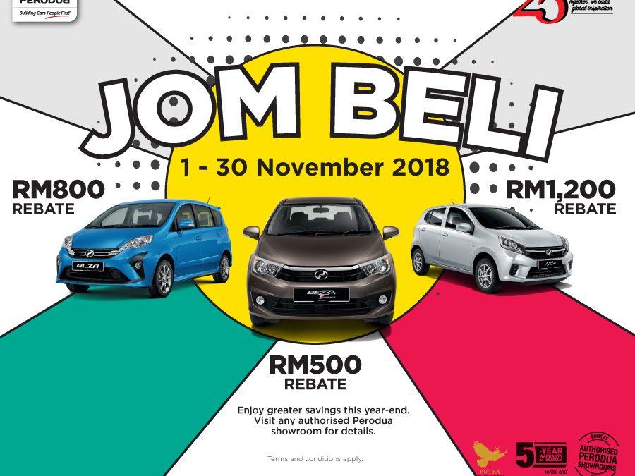 Promosi Perodua November 2018