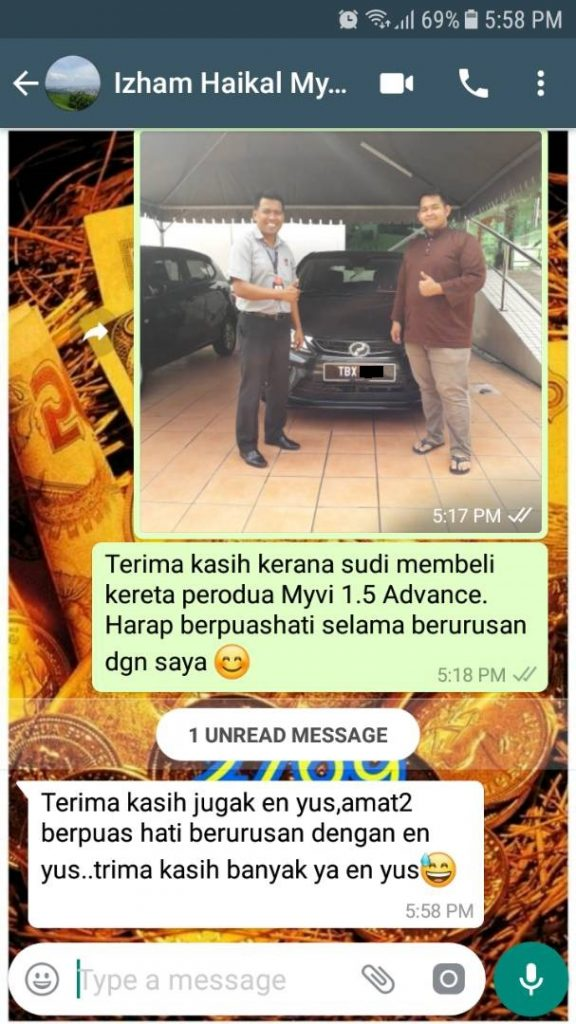 Amat-amat berpuashati berurusan di PeroduaSelangor.Com
