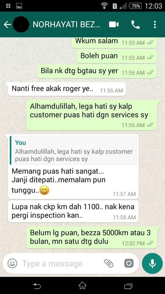 Testimoni Pelanggan