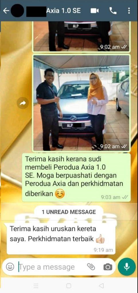 Terima Kasih Kerana Berurusan Dengan Perodua Selangor